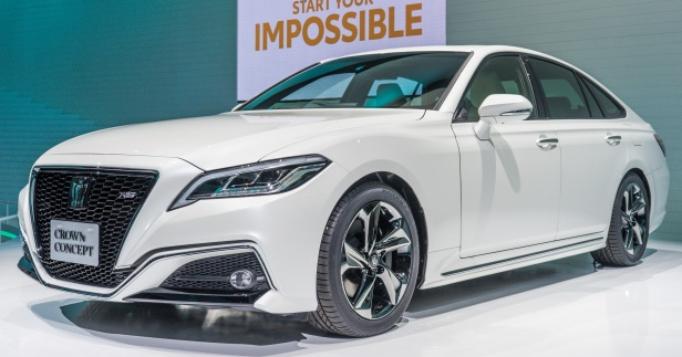The Toyota Crown concept showcases an advanced vehicle connectivity framework