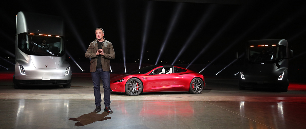 Tesla to launch an electric sports car and an electric semi-truck